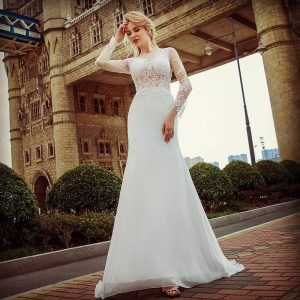 Sheath Wedding Gown Rental Singapore Column Wedding Dress Bride SingaporeGownRental